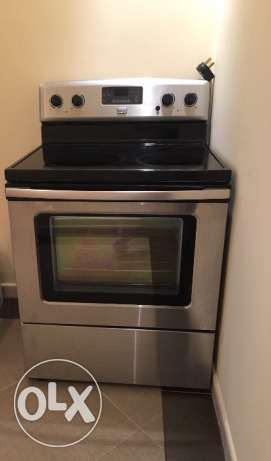 MAYTAG- Freestanding Ceramic Top Electric range 76 cm Steel-Oven