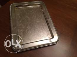 silver tray hand made