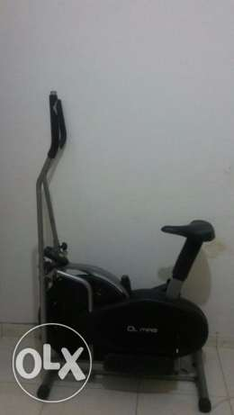 Olympia Stationary Bike cum elliptical cross trainer, displays calorie
