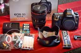 canon eos 5d mark iii + with 24-105mm lens