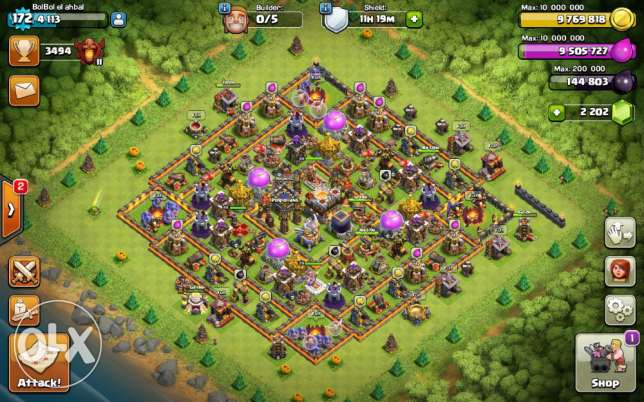 Clash of Clans th 11 max جدة -  1