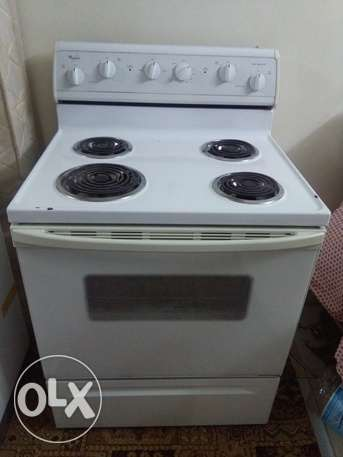 WHIRLPOOL ELECTRIC stove made by usa