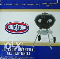 Family Size Outdoor Charcoal BBQ Grill and Tools for Sale.