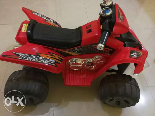 ATV, red color, two wheel drive