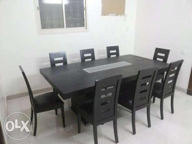 Dinning Table - 8 chairs