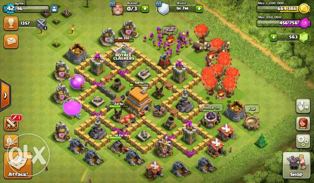 Clash of clans town hall level 7 جدة -  1