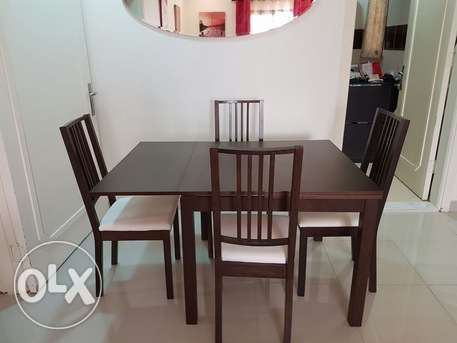 Used Ikea extendable dining table