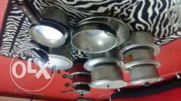 Kitchen cookware set with all necessary cooking partsi