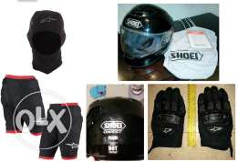 motorcycle gear in perfect condition