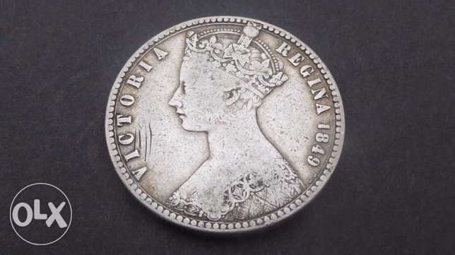 silver coin, 1 florin 1849 great britain, very rare