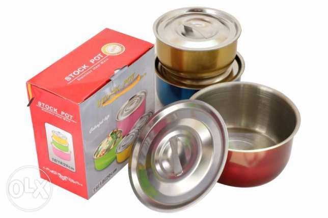 Stainless Steel 3pcs Containers جدة -  2