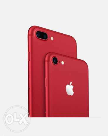 New Red Iphone with lightning earpods