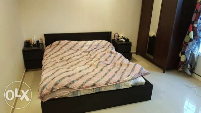Bed with mattress plus 2 waredrobes ac available on a separate price