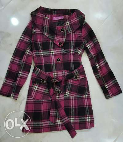 Velvet plaid coat
