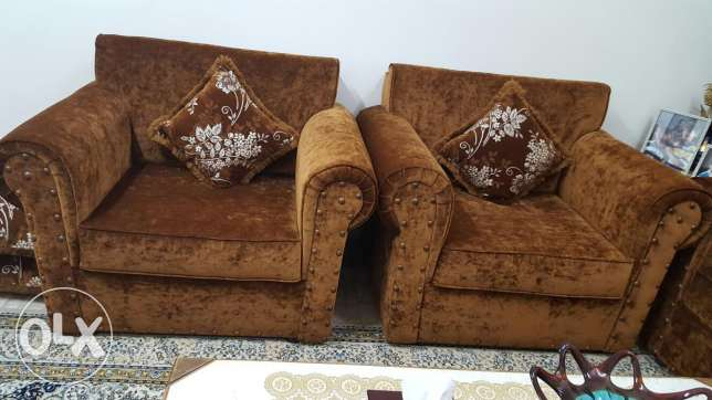 Sofas,dinning table and curtains for sale