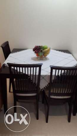 Used Dining Table + 4 Chairs