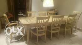 Home center 8 seater dining table set for sale