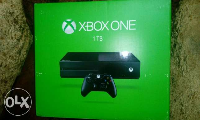 Xbox one 1TB and two controllers for sale