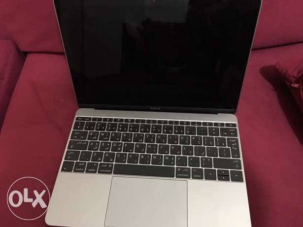 Macbook laptop dark gray