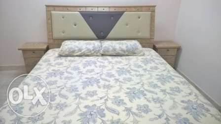 Double Bed set with Mattress, Six-door Wardrobe and Dressing Table