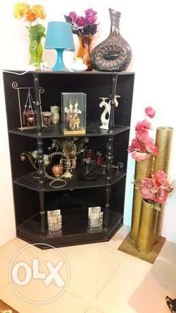 Black Wooden Corner with Complete Accessories