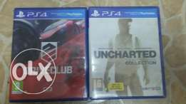 Ps4 drive club and uncharted collection CD for sale