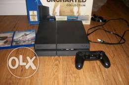 we selling Sony Play station 4 with 2 controllers and 2 games