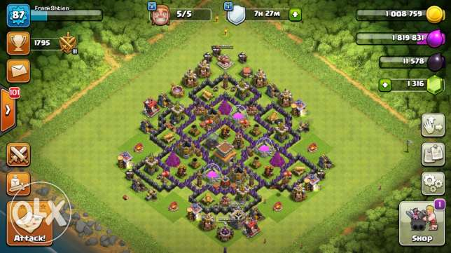 للبيع قريه كلاش اوف كلانز - For sale clash of clans account