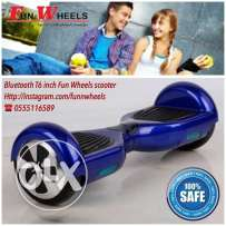 blue bluetooth 6 inch funwheels electric scooter 2 - سكوتر كهربائي