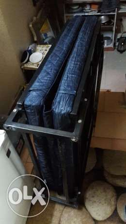 folding bed with matress