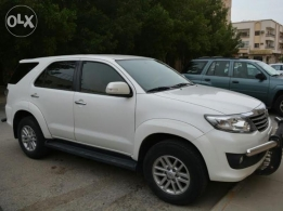 Doctor driven fortuner for sale 2013 good condition white