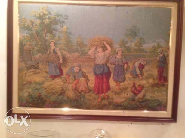 2 Aubusson framed pieces