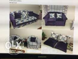 Excellent Condition Sofa Set with matching Curtain stylish