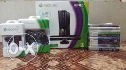 Xbox 360 with 16 games,Kinect, play and charge kit and 2 controllers!!