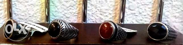 Finger Ring Pure Silver With Stone