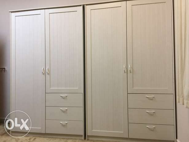 two IKEA wardrobes