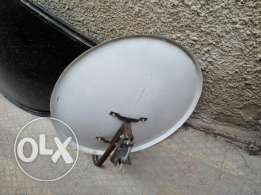 Used 210cm dish with C band lnb