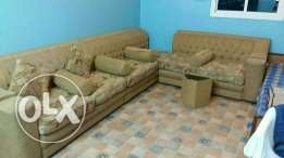 Sofa's with Cushion , Small Table's & Curtain