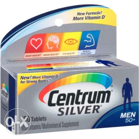 90Centrum Silver Men's 50+ multivitamins الرياض -  1