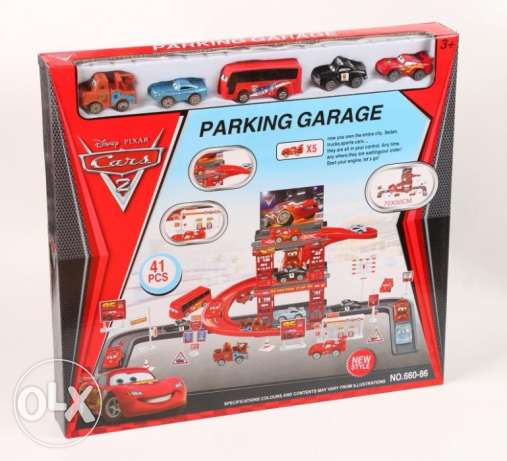 Disney Cars 2 brand Garage Playing Set