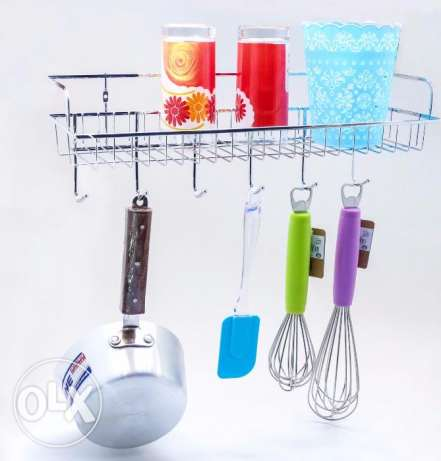 Kitchen Rack with bottom Hanging hooks