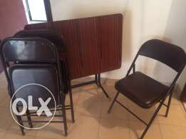 Folding Table + 3 folding Chairs