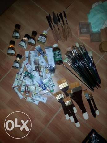 Full Oil Painting Set with Easel & Canvas