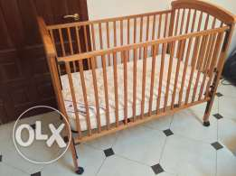 Baby Cot with Mattress (Center Point), Bedroom Set for Kids, Mattress