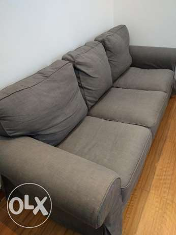 Three-seat sofa (EKTORP nordvalla dark grey) الرياض -  1