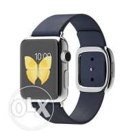 Apple MJ342 38mm Stainless Steel Case with Midnight Blue Modern Buckle