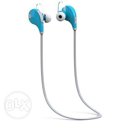 QCY QY7 Bluetooth HeadSet - Blue White جدة -  1