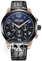 Megir watch Black&Rose Gold