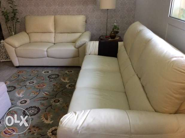 Home center leather sofa, 3+2 seater, brand new