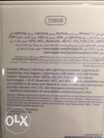 apple iPhone 7 black 128g sealed جدة -  3